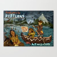 Postcard From Lewis + Cl… Canvas Print