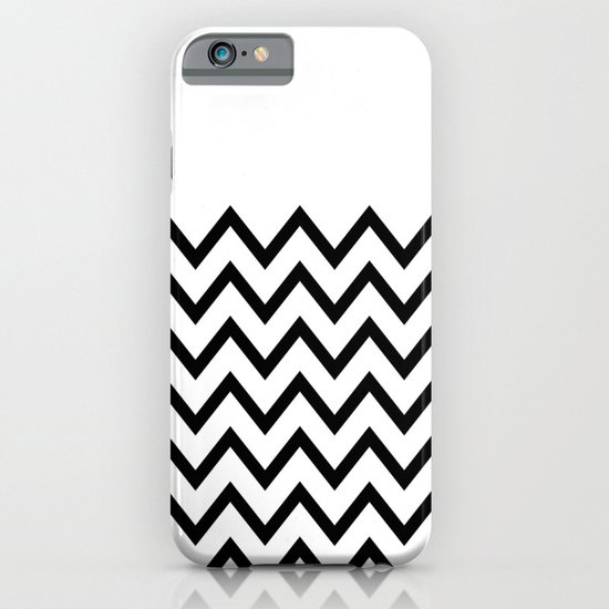 Black Chevron On White iPhone & iPod Case