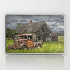 Old Vintage Pickup in front of an Abandoned Farm House Laptop & iPad Skin