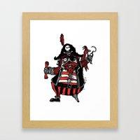 The Captain Pirate inspired by Captain Pugwash Framed Art Print