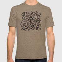 Scribble Mens Fitted Tee Tri-Coffee SMALL