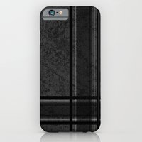 Grungy Grey Plaid iPhone 6 Slim Case