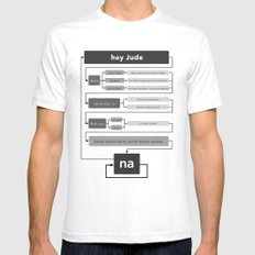 Hey Jude flowchart SMALL White Mens Fitted Tee