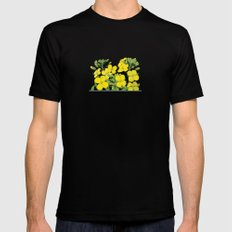 Summer flower in yellow Mens Fitted Tee SMALL Black