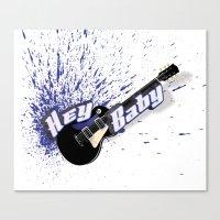 Hey Baby Guitar Canvas Print