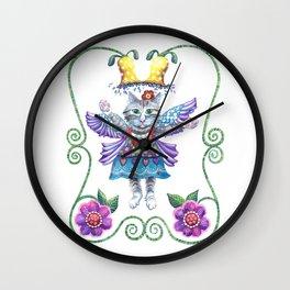 Wall Clock - Angel Kitty - Shelley Ylst Art