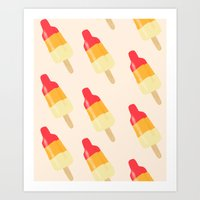 Rocket ice cream Art Print
