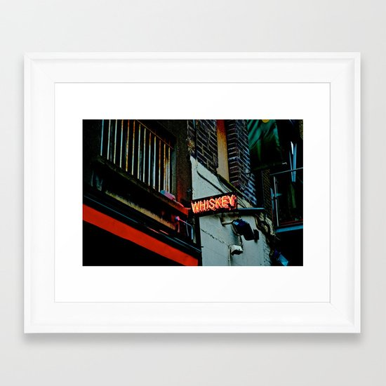 Back Alley Whiskey Framed Art Print