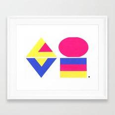 CMYK LOVE Framed Art Print