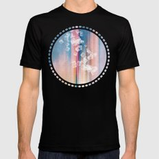 SQUARES DANCING Black Mens Fitted Tee SMALL