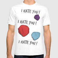 Dandy (I Hate You!) Mens Fitted Tee White SMALL