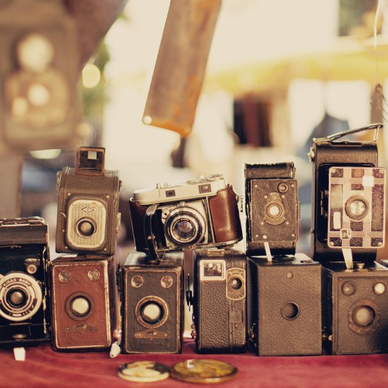 Old Cameras (Vintage and Retro Film Cameras Collection) Canvas Print