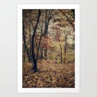 Vintage Autumn Art Print