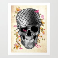 Skull Soldier Art Print