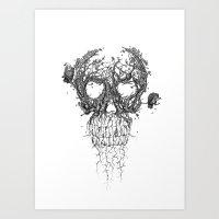 The Vulture Tree Art Print