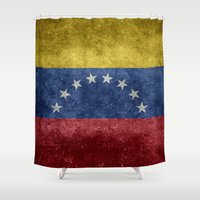 The national flag of the Bolivarian Republic of Venezuela -  Vintage version Shower Curtain