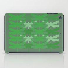 green dragonflies iPad Case