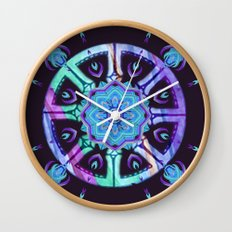 Purple Dharma Wall Clock
