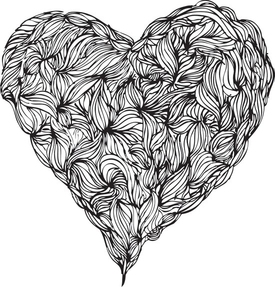 Hairy Heart  Art Print