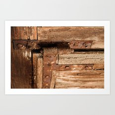 LOST PLACES - dusty rusty hinge Art Print