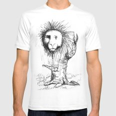 Lion Tree SMALL White Mens Fitted Tee