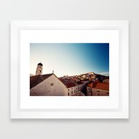 Sunrise in Dubrovnik Framed Art Print