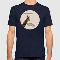 Be Different Mens Fitted Tee Navy SMALL