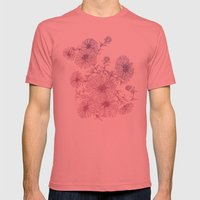 Chrysanthemum Mens Fitted Tee Pomegranate SMALL