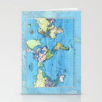Mercator Map of Ocean Currents Stationery Cards
