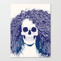 SKull GIrls 2 - Sea Navy Canvas Print
