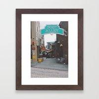 Post Alley Framed Art Print