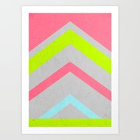 Abstract Neon Art Print