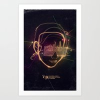 Asian Disco Laser Art Print