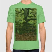 Autumnal woodland. Padley Gorge, Derbyshire, UK. Mens Fitted Tee Grass SMALL