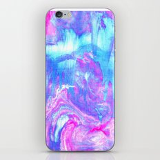 Melting Marble in Pink & Turquoise  iPhone & iPod Skin