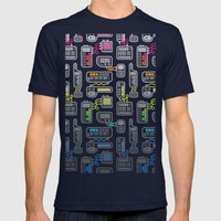 Electronica Mens Fitted Tee Navy SMALL