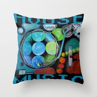 House Music  Throw Pillow