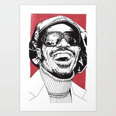 Stevie Wonder Art Print