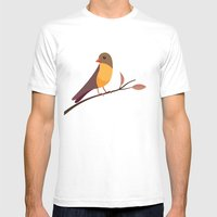 Yellow Breasted Bird Mens Fitted Tee White SMALL
