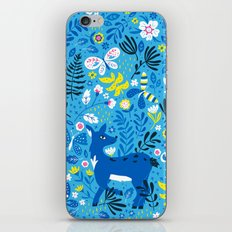 Deer and Butterflies (Sky Blue) iPhone & iPod Skin