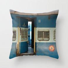 India railway print Throw Pillow