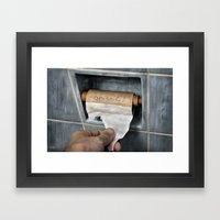 The Last Thought Framed Art Print
