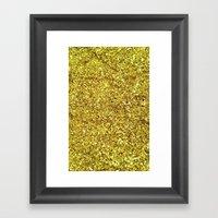 GOLD GLITTER Framed Art Print