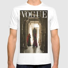 VOGUE INDIA White Mens Fitted Tee SMALL