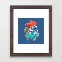 Finding New Friends Framed Art Print
