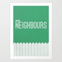 Neighbours Art Print