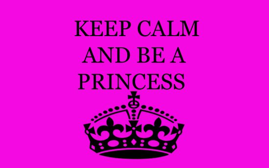 Keep calm and be a princess Art Print