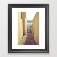 Yellow Path Framed Art Print