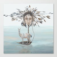 The Leaf Boatman Canvas Print