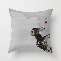 Worm Throw Pillow